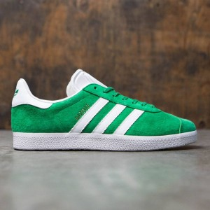 Adidas Men Gazelle (green / white / gold metallic)