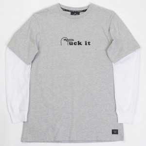 Lazy Oaf Men Duck It Tee (gray)