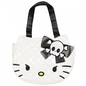 Hello Kitty Angry Face Quilted Bag (white / black)