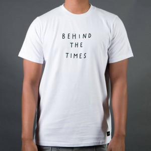 Lazy Oaf Men Behind The Times Tee (white)