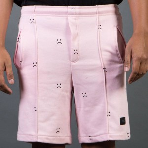 Lazy Oaf Men Sad Pink Shorts (pink)
