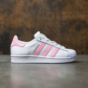 Adidas Women Superstar (white / clear light pink / gold metallic)