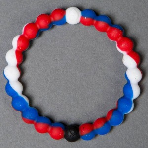 Lokai Bracelet - World USA (red / white / blue)