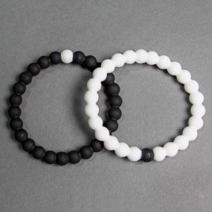 Lokai Bracelet - Black And White 2 Pack (black / white)