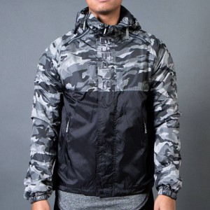 Superdry Men Camo Dual Zip Artic Jacket (black / gray)