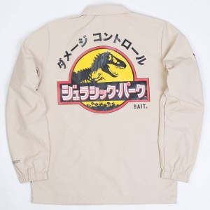 BAIT x Jurassic Park Men Damage Control Coaches Jacket (khaki / sand)