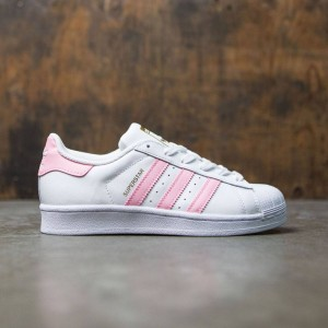 Adidas Big Kids Superstar Foundation (white / clear light pink / gold metallic)