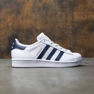 Adidas Women Superstar (white / collegiate navy / gold metallic)