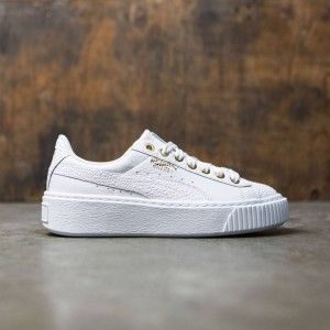 Puma Women Basket Platform Pearlized (white)