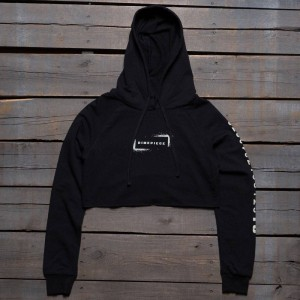 Dimepiece Women Low Key Sleeve Hoody (black)
