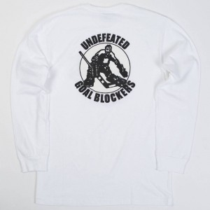 Undefeated Men Goal Blockers LS Tee (white)