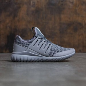 Adidas Big Kids Tubular Radial (gray / charcoal solid grey / vintage white)