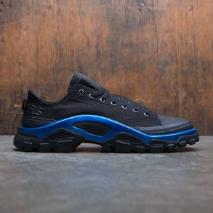 Adidas x Raf Simons Men New Runner (black / core black / electric blue)