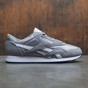 Reebok Men Classic Nylon (gray / platinum / blue)