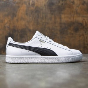 Puma Men Clyde Core - Leather Foil (white / black)