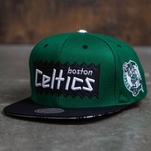 BAIT x NBA x Mitchell And Ness Boston Celtics STA3 Wool Snapback Cap (green / black)