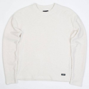 Stussy Women Swan Long Sleeve Sweater (white / natural)