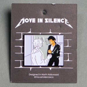 Move In Silence Aha Pin (purple / white)