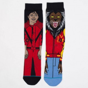 Stance Men Michael Jackson Socks (red)