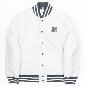 Undefeated Men Undefeated Stadium Jacket (silver)