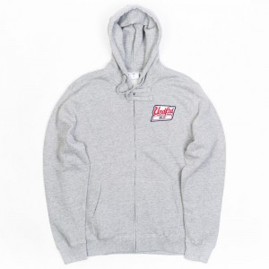 Undefeated Men Billy Patch Zip Hoody (gray / heather)