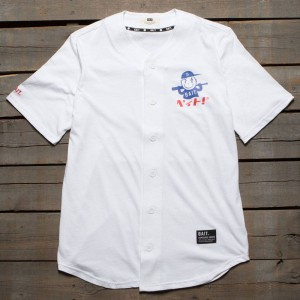 BAIT Men Nippon Logo Baseball Jersey Shirt (white)