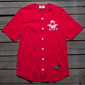 BAIT Men Nippon Logo Baseball Jersey Shirt (red)
