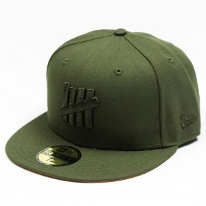 Undefeated x New Era Eject Fitted Cap (green / olive)