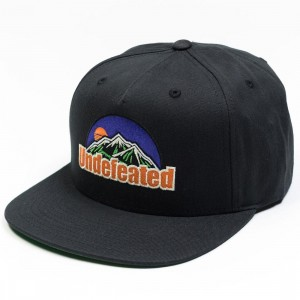 Undefeated Peak Cap (black)