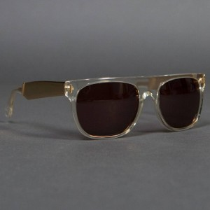 Super Sunglasses Flat Top (silver / crystal)