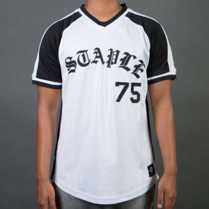Staple Men Logo Baseball Tee (white)