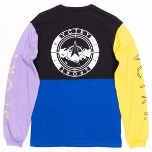 10 Deep Men Mid Mountain Long Sleeve Tee (purple / black)