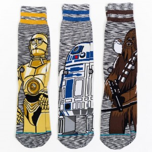Stance x Star Wars Men Star Wars Sidekick 3 Pack Socks (gray)