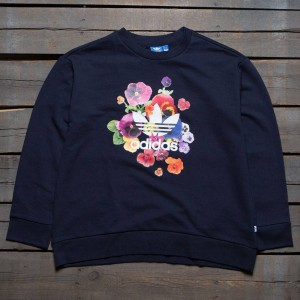 Adidas Women Floral Sweatshirt (navy / legend ink)