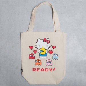 BAIT x Sanrio x Pac-Man Hello Kitty Tote Bag (tan)