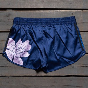 Adidas Women Floral Engraving Running Shorts (navy / dark blue / green / clear pink / dark marine)