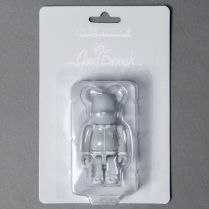 Medicom Goodenough Classic Gray 100% Bearbrick Figure (gray)