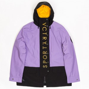 10 Deep Men Peak Anorak Jacket (purple)