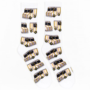 40s and Shorties Ice Cream Truck Socks (white)