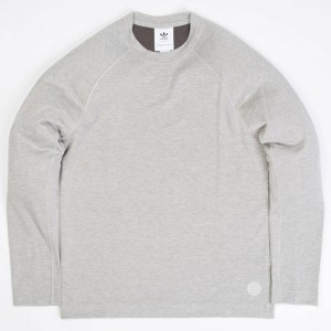 Adidas x Wings + Horns Men Long Sleeve Tee (tan / sesame)