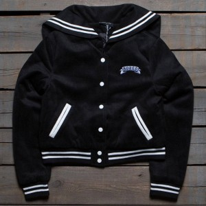 Lazy Oaf Women Bored Varsity Jacket (black)