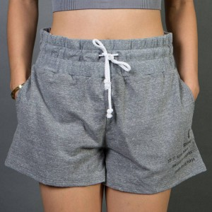 Stussy Women 80 17 Gym Shorts (gray / heather)