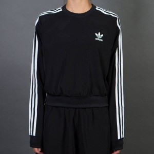 Adidas Women 3-Stripes Cropped Sweater (black)