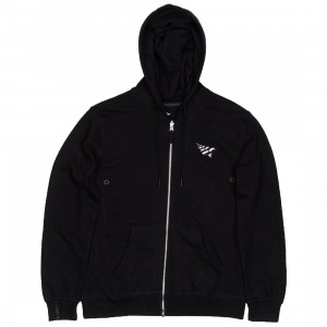 Paper Planes Men Plane Zip Up Hoody (black)