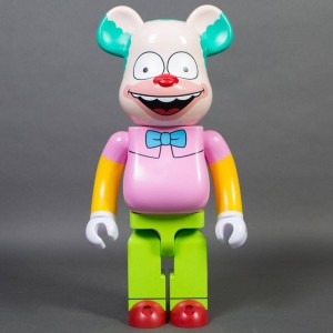 Medicom The Simpsons Krusty The Clown 1000% Bearbrick Figure (pink / green)