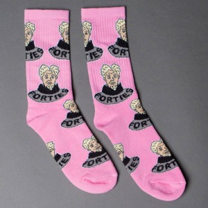 40s and Shorties Men High Fashion Socks (pink)