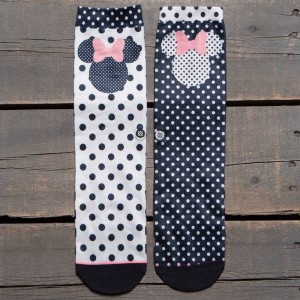 Stance Women Sprinkled Minnie Socks (black)