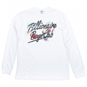 Billionaire Boys Club Men United LS Tee (white)