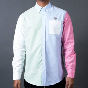 Billionaire Boys Club Men BB Live LS Woven Shirt (blue / pink)