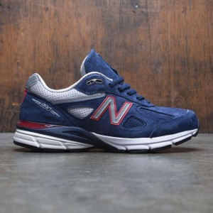 New Balance Men 990v4 M990BR4 - Made In USA (navy / pigment / red)